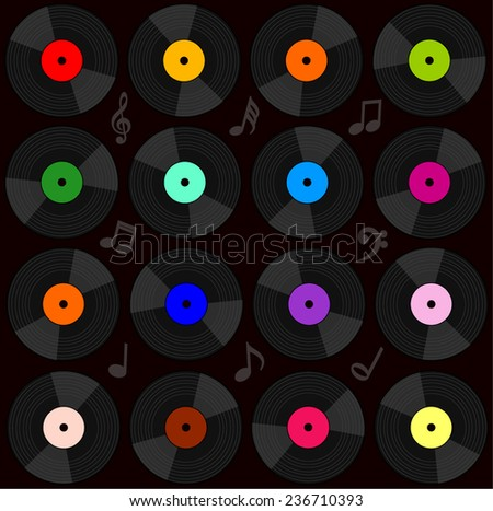 Vinyl record background. Vector illustration - stock vector