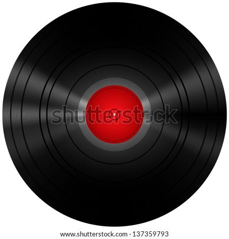Vinyl Record Isolated On White - stock vector
