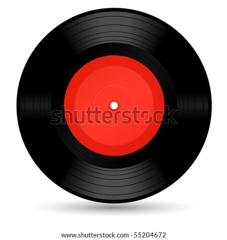 vinyl record - vector - stock vector