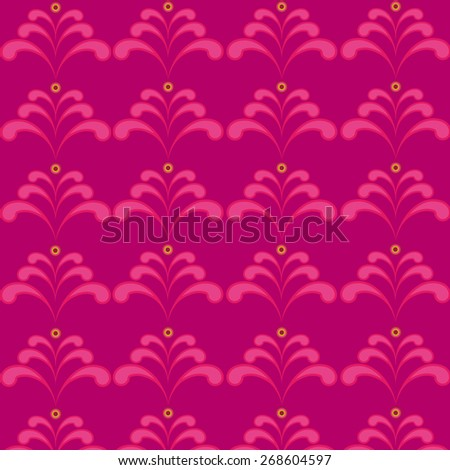 violet pattern with floral - stock vector