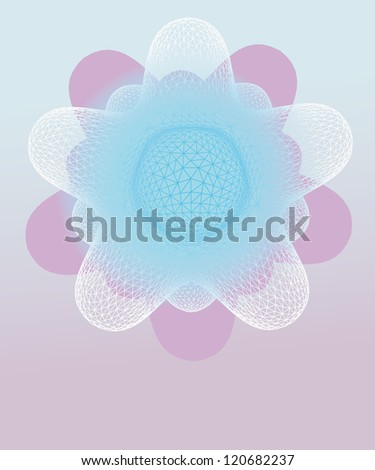 violet winter rounded star shape vector template - stock vector