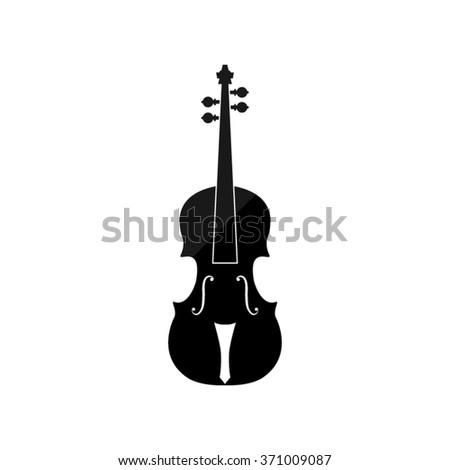 violin  - black vector icon - stock vector