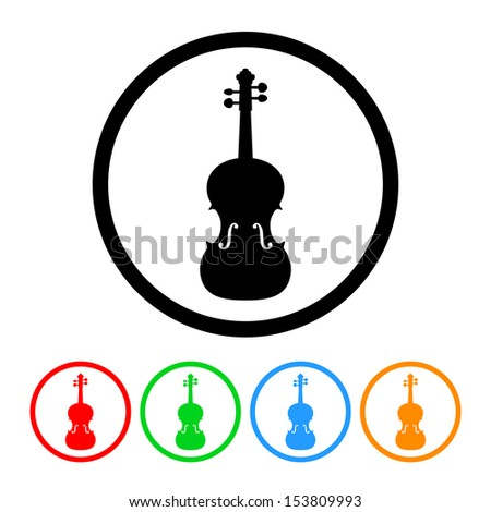 Violin Icon - stock vector