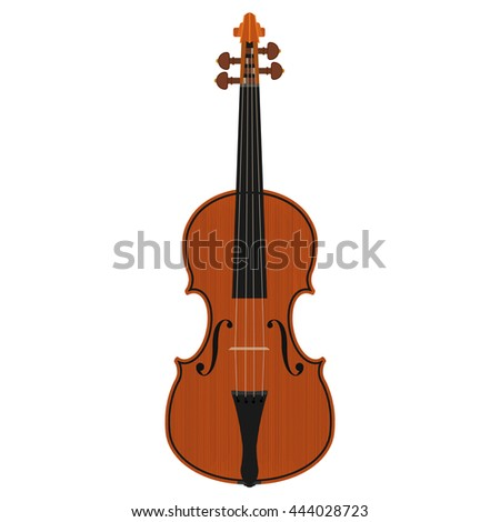 violin isolated on white background - stock vector