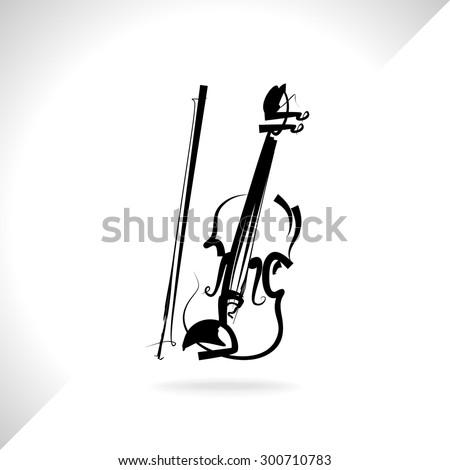 Violin musical instrument,vector - stock vector