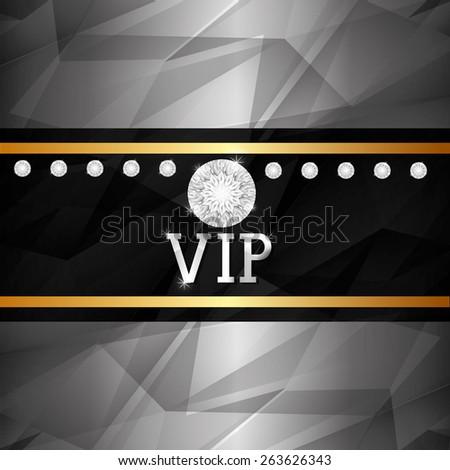VIP design over silver background, vector illustration. - stock vector