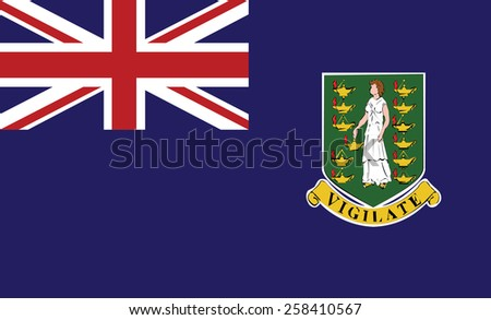 Virgin Islands  flag - stock vector