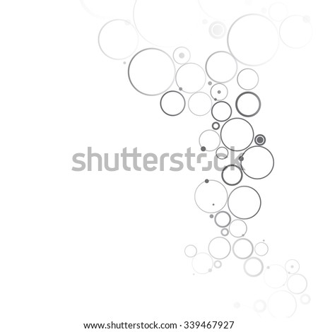 Virtual abstract background with particle, molecule structure. - stock vector