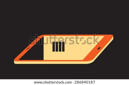 virtual shelter - cell phone as a prison or jail chamber - stock vector