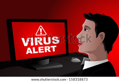 Virus Alert! - stock vector