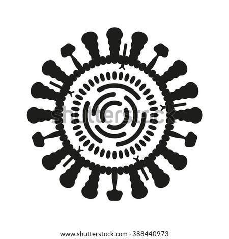 Virus or bacteria icon. Influenza symbol. Vector illustration. - stock vector