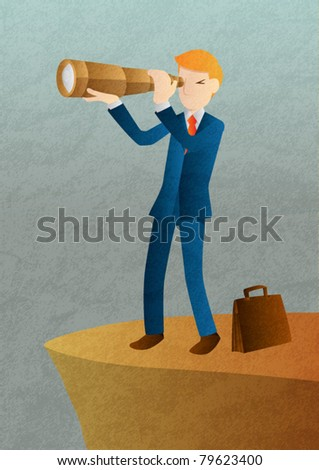 Vision of Business - stock vector