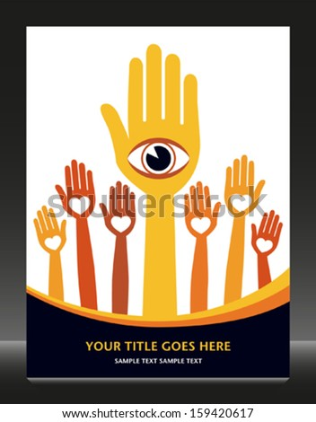 Visionary and loving followers.  - stock vector