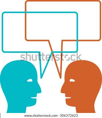 Visual Thinking Talking Head - stock vector