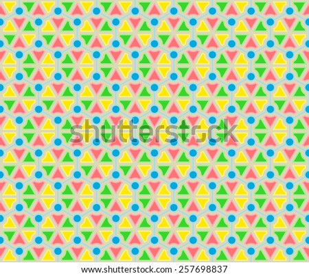 Vivid color molecule seamless pattern background vector. Repeating geometric shapes with structure hexagon. - stock vector