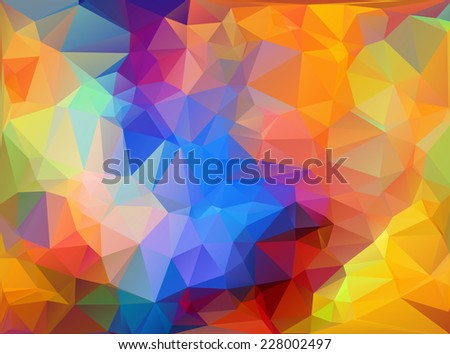 Vivid Color Polygonal Mosaic Background, Vector illustration,  Business Design Templates  - stock vector