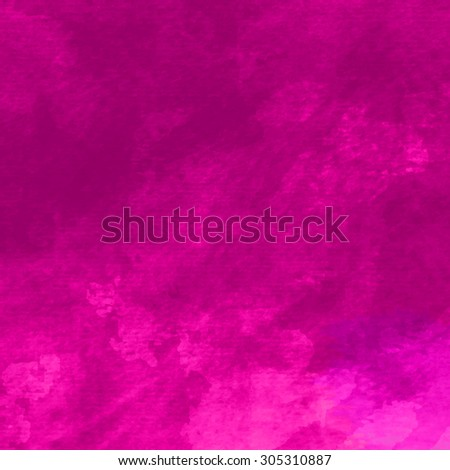 Vivid watercolor background. Handmade texture. Bright acid pink color. Vector illustration. - stock vector