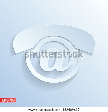 voicemail icon. contact button for website and voice mail service - stock vector