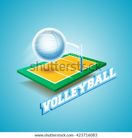 volleyball banner - stock vector
