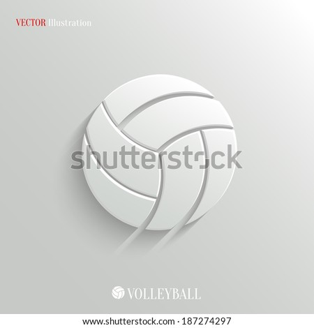 Volleyball icon - vector web illustration, easy paste to any background - stock vector