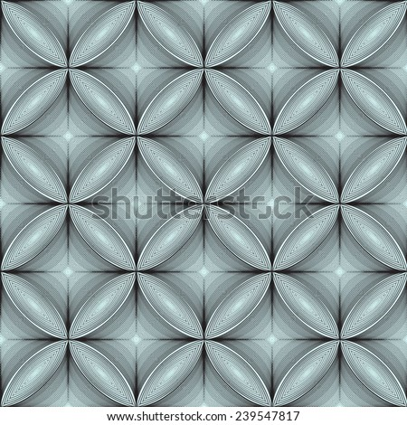 volume floral abstract 3d background seamless pattern - stock vector