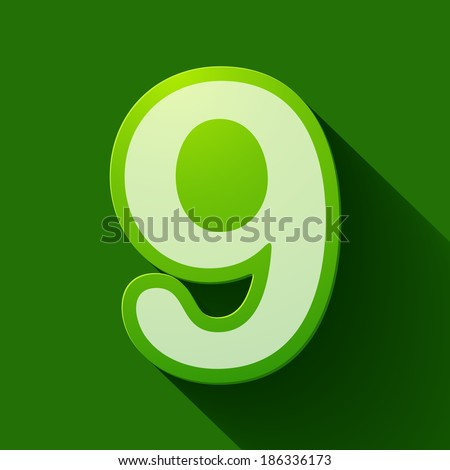 Volume icons number: nine. Colorful modern Style. - stock vector
