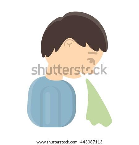 Vomiting icon cartoon.  - stock vector