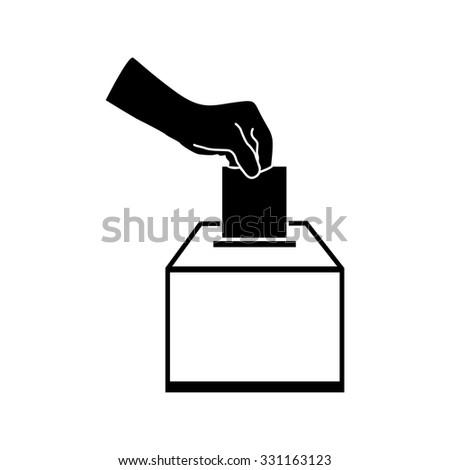 Vot ballot vector icon - stock vector