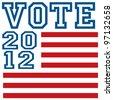 Vote 2012 - stock vector