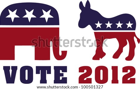 vote 2012 - stock vector