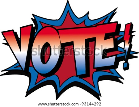 vote again - stock vector