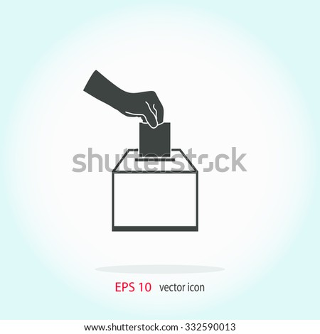 Vote ballot icon. Universal icon to use in web and mobile UI - stock vector