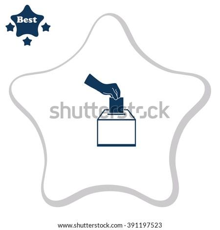 Vote ballot vector icon - stock vector