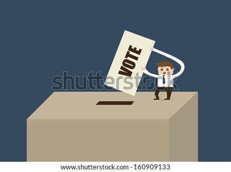 vote box  - stock vector