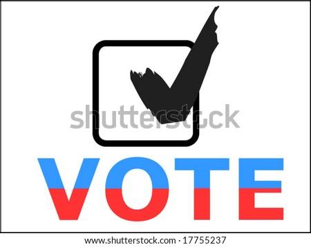 Vote checkbox - stock vector