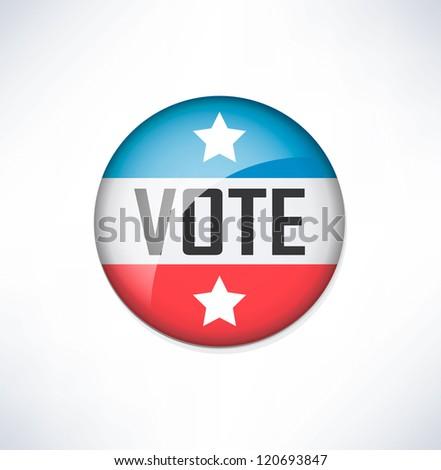 Vote glossy badge - stock vector