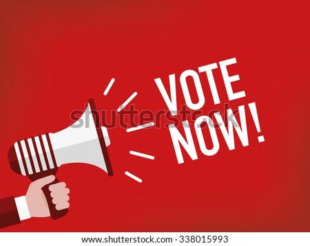 Vote now! - stock vector