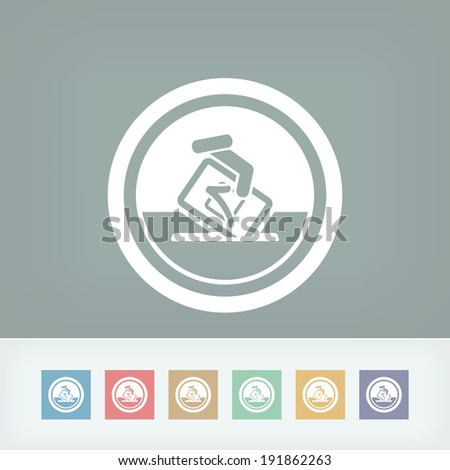 Vote symbol icon - stock vector