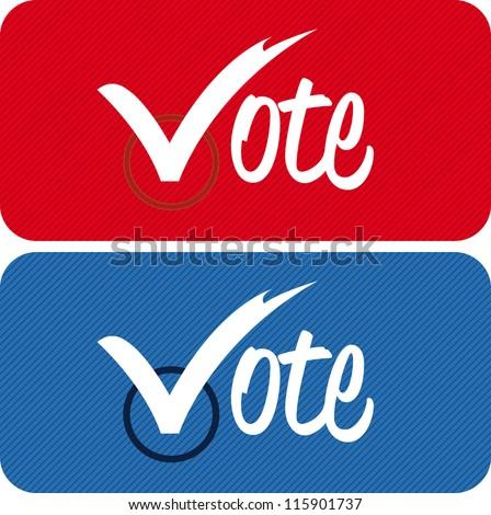 vote text - stock vector