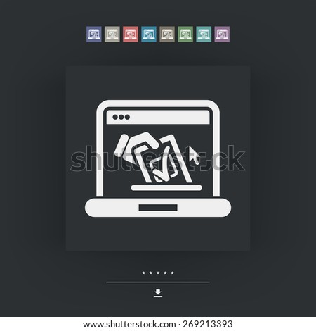 Vote web concept - stock vector