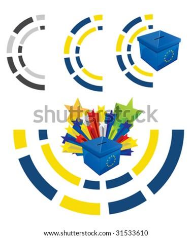 Voting Box 8 - stock vector