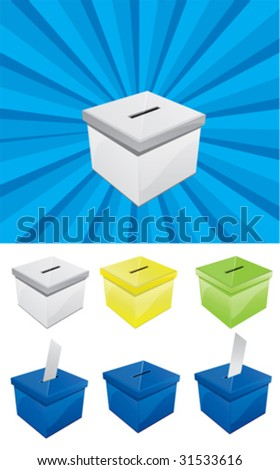 Voting Box 10 - stock vector