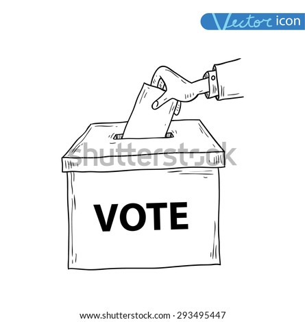 voting box, vector illustration. - stock vector