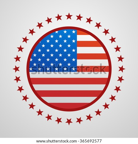 Voting Symbols design presidential election flag USA - stock vector