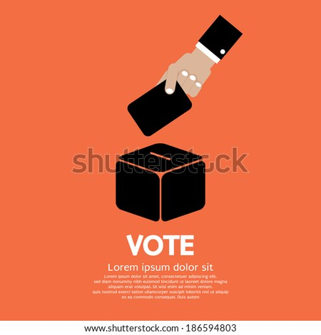 Voting System Vector Illustration - stock vector