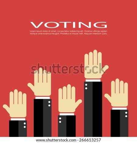 Voting vector icon - stock vector