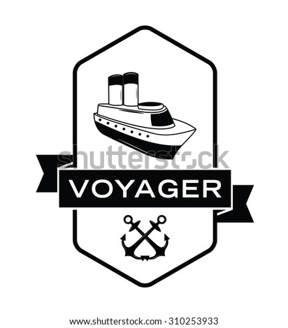 Voyager label badge - stock vector