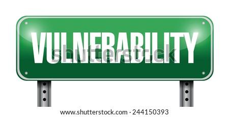 vulnerability street sign illustration design over a white background - stock vector