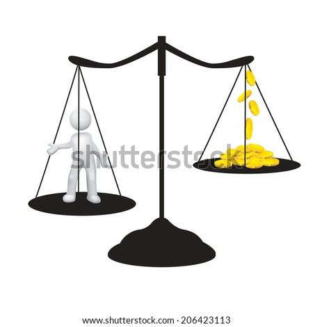 wage - stock vector