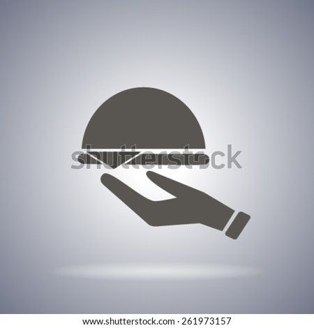 waiter illustration - stock vector